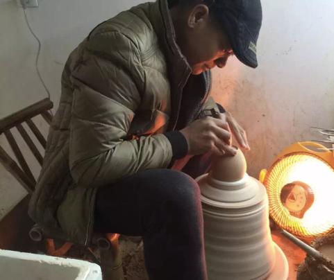 Hand made Jingdezhen porcelain.